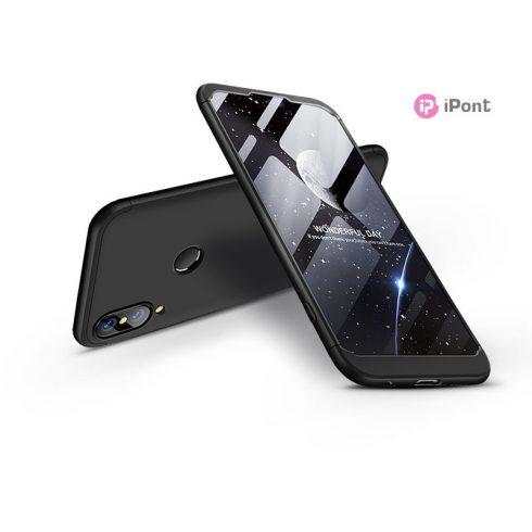 Huawei P20 Lite hátlap  - GKK 360 Full Protection 3in1 - fekete