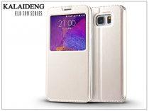 Samsung SM-N920 Galaxy Note 5 flipes tok - Kalaideng Sun Series View Cover - white