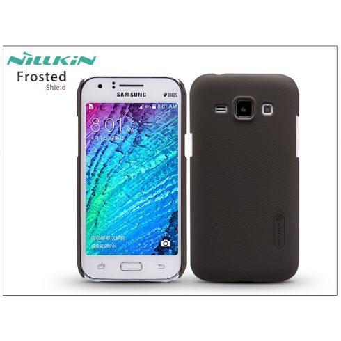 Samsung SM-J100 Galaxy J1 hátlap képernyővédő fóliával - Nillkin Frosted Shield - barna