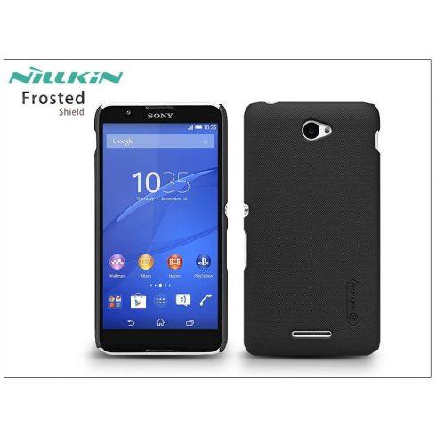 Sony Xperia E4 (E2104/E2105) hátlap képernyővédő fóliával - Nillkin Frosted Shield - fekete