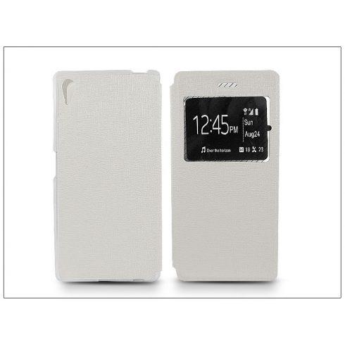 Sony Xperia Z5 S-View Flexi oldalra nyíló flipes tok - fehér