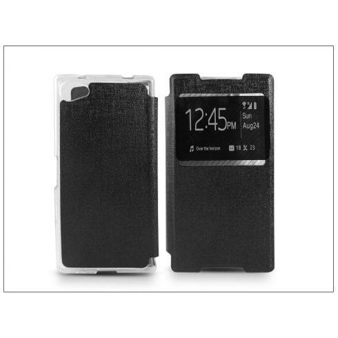 Sony Xperia Z5 Compact (E5803) S-View Flexi oldalra nyíló flipes tok - fekete