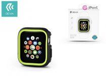Apple Watch 4 védőtok - Devia Dazzle Series 44 mm - fekete/neon zöld