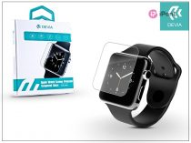 Apple Watch üveg képernyővédő üveg - Devia Tempered Glass 0.15 mm Screen Protector - 42 mm - black